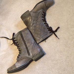 """Steve Madden leather combat boots """"thistle"""" 10M"""